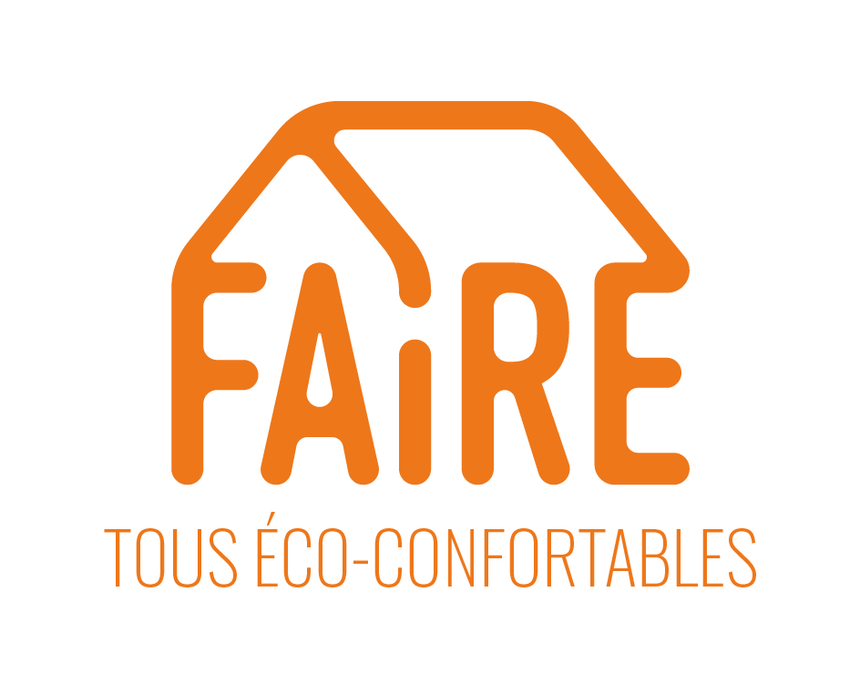 LOGO FAIRE TOUS ECO CONFORTABLES ORANGE