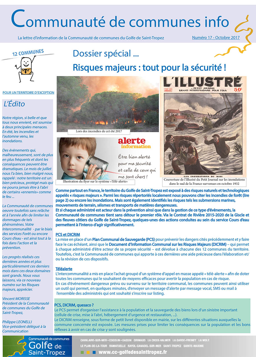 NEWSLETTER 17 RISQUES MAJEURS couv